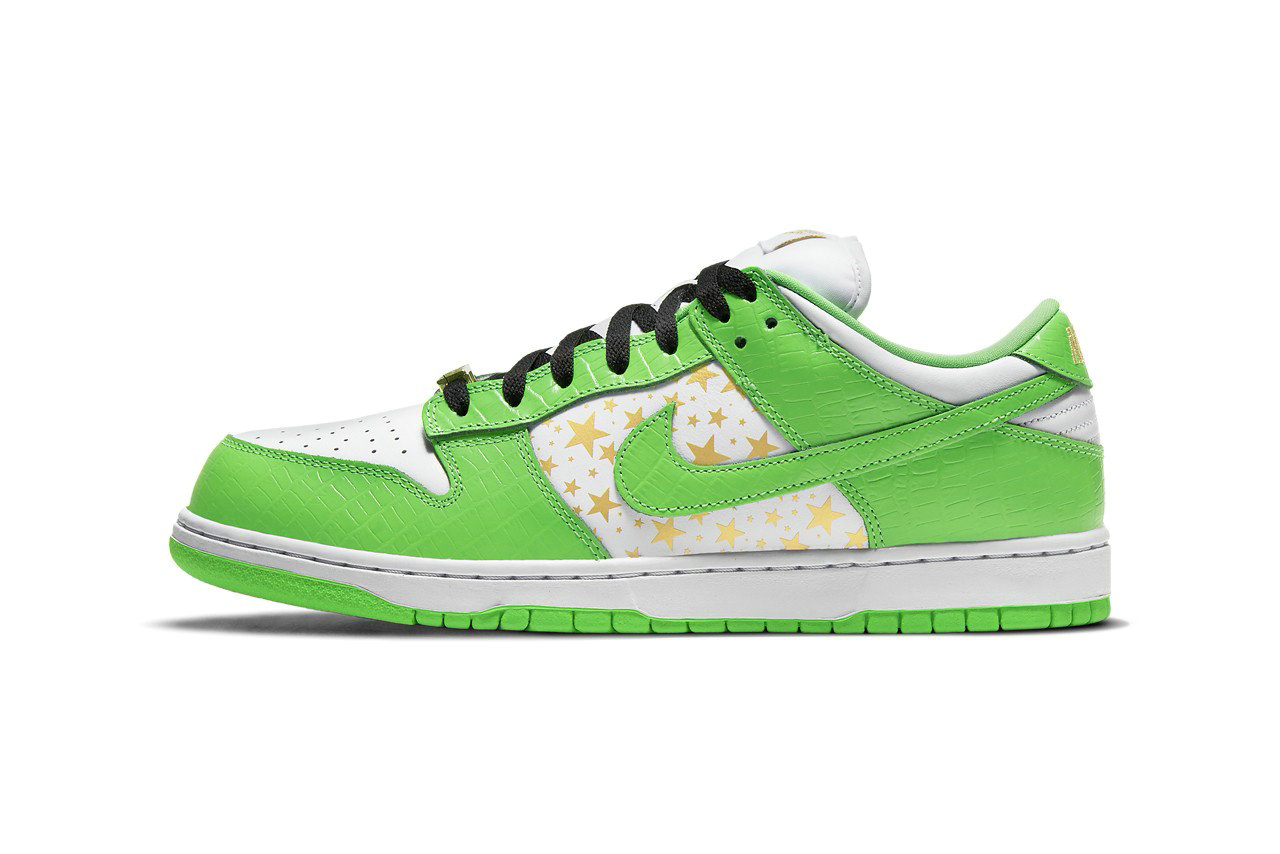 2021 Where To Buy Wholesale Cheap Supreme x Nike SB Dunk Low Mean Green DH3228-101 - www.wholesaleflyknit.com