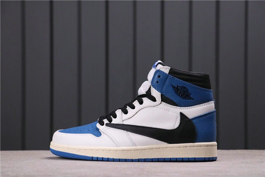 2021 Where To Buy Wholesale Cheap Travis Scott x Fragment x Nike Air Jordan 1 Retro High OG SP Military Blue DH3227-105 - www.wholesaleflyknit.com