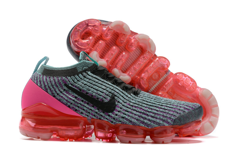 2021 Where To Buy Cheap Womens Nike Air VaporMax Flyknit 3.0 Grey Black Pink Red - www.wholesaleflyknit.com