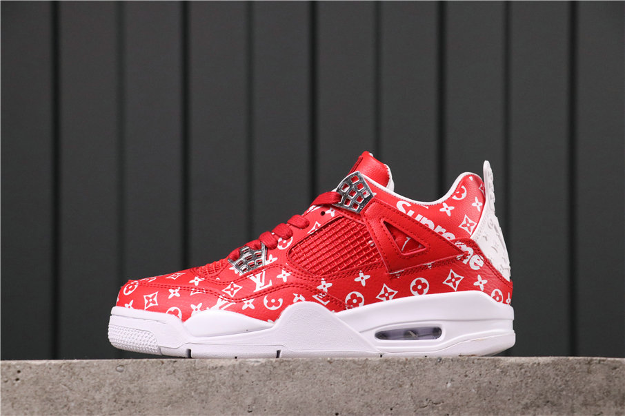 2021 Where To Buy Womens Wholesale Cheap Air Jordan 4 Retro White Red AQ9129-020 - www.wholesaleflyknit.com