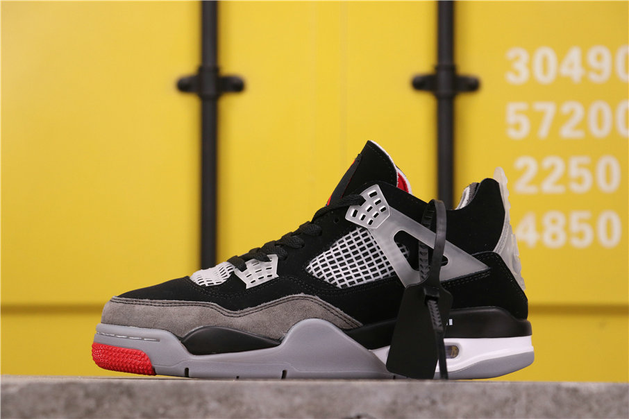 2021 Where To Buy Womens Wholesale Cheap Off White X Air Jordan 4 Retro Bred AQ9129-412 - www.wholesaleflyknit.com
