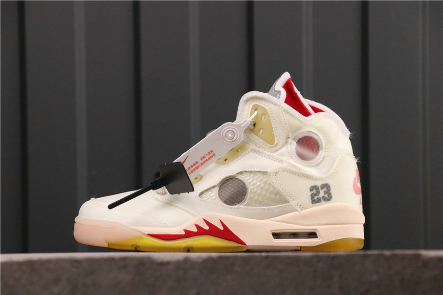 2021 Where To Buy Womens Wholesale Cheap Off-White X Jordan 5 Sail CT8480-100 - www.wholesaleflyknit.com