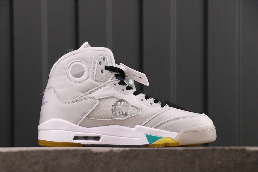 2021 Where To Buy Womens Wholesale Cheap Off-White X Jordan 5 White Beige Teal CT8480-105 - www.wholesaleflyknit.com
