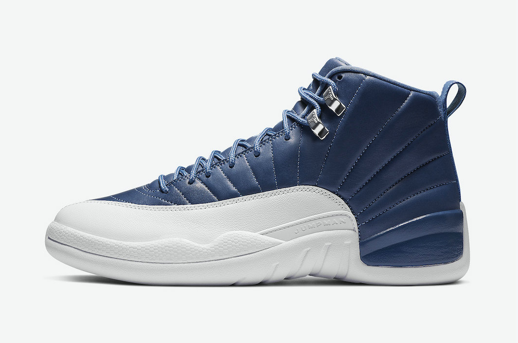 2021 Womens Wholesale Cheap Nike Air Jordan 12 Indigo Stone Blue Legend Blue-Obsidian 130690-404 - www.wholesaleflyknit.com