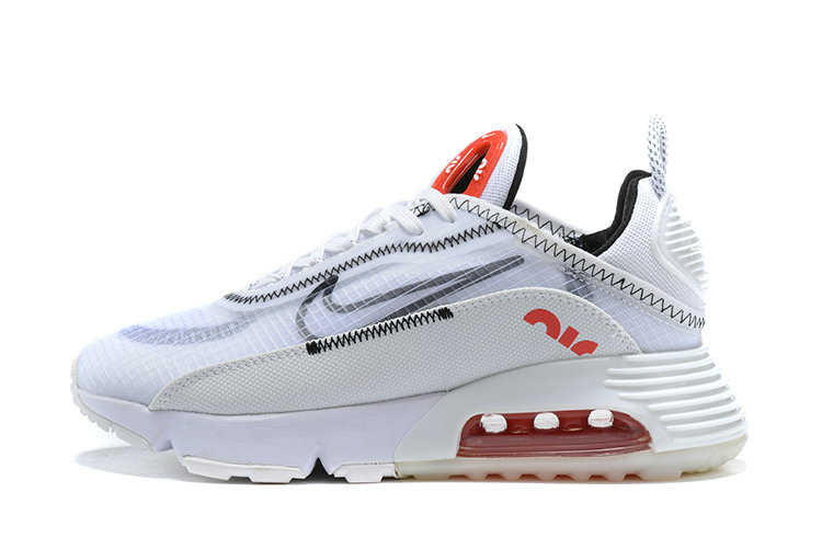 2021 Womens Wholesale Cheap Nike Air Max 2090 White Black Grey Red - www.wholesaleflyknit.com