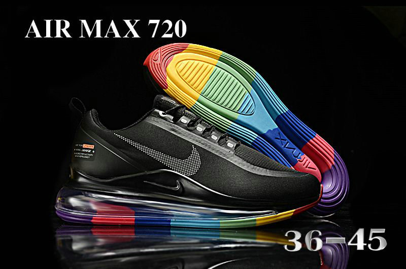 2021 Womens Wholesale Cheap Nike Air Max 720 Be True Black Colorful - www.wholesaleflyknit.com