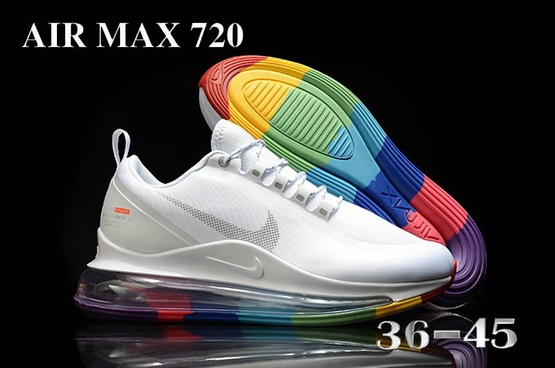 2021 Womens Wholesale Cheap Nike Air Max 720 Be True White Colorful - www.wholesaleflyknit.com