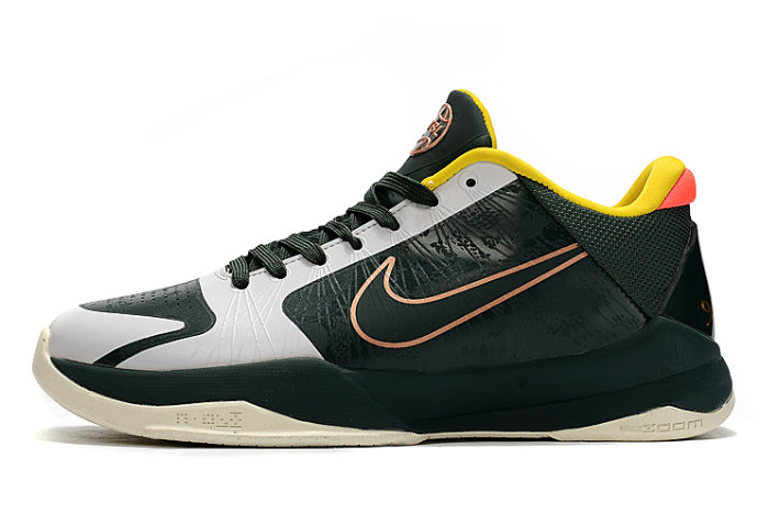 2021 Womens Wholesale Cheap Nike Kobe 5 Protro Dark Green White-Yellow-Peach - www.wholesaleflyknit.com