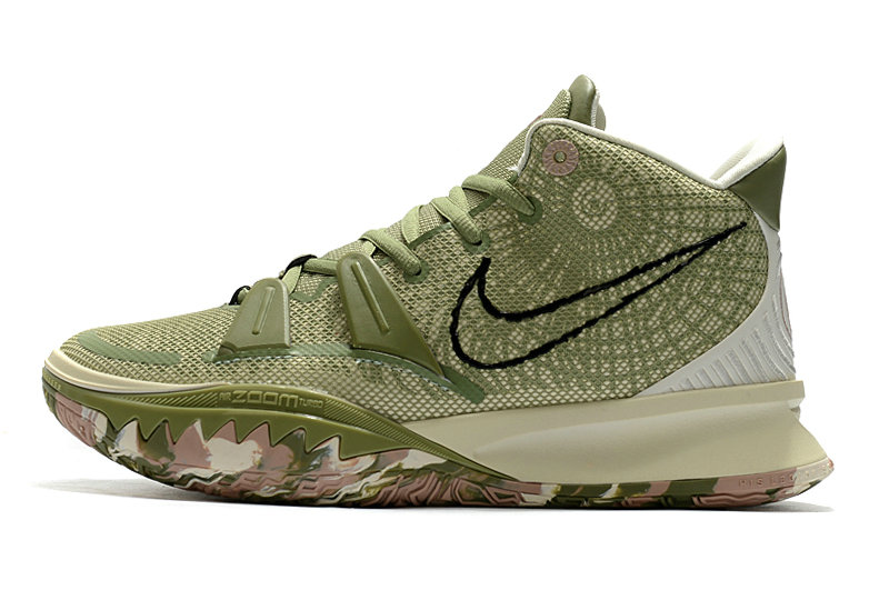 2021 Womens Wholesale Cheap Nike Kyrie Irving 7 Green Rose Pink - www.wholesaleflyknit.com