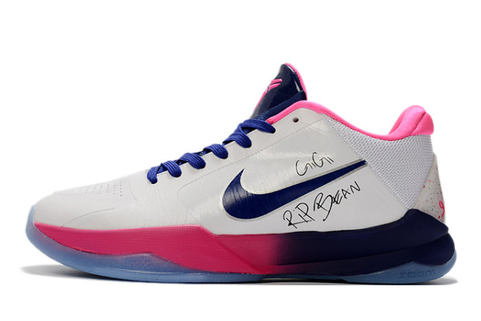 2021 Womens Wholesale Cheap Nike Zoom Kobe 5 Gigi Rip Bean Pink White CD4991-600 - www.wholesaleflyknit.com