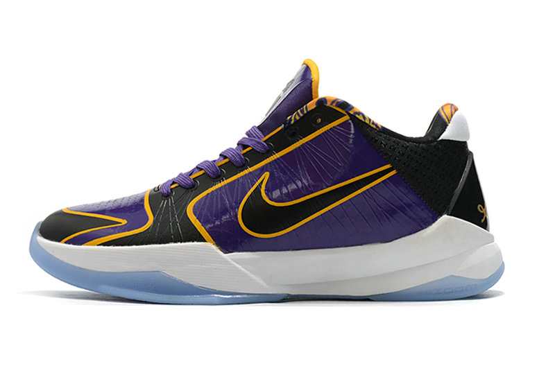 2021 Womens Wholesale Cheap Nike Zoom Kobe 5 Gold Purple White Black - www.wholesaleflyknit.com