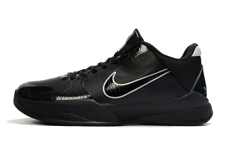 2021 Womens Wholesale Cheap Nike Zoom Kobe 5 Triple Black - www.wholesaleflyknit.com