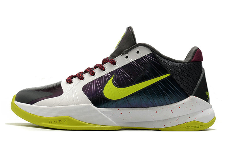 2021 Womens Wholesale Cheap Nike Zoom Kobe 5 White Green Purple - www.wholesaleflyknit.com