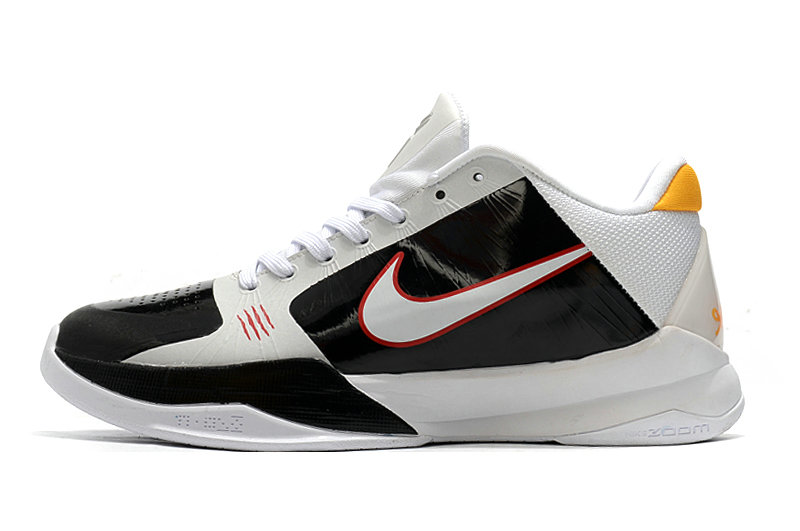 2021 Womens Wholesale Cheap Nike Zoom Kobe 5 White Red Black - www.wholesaleflyknit.com