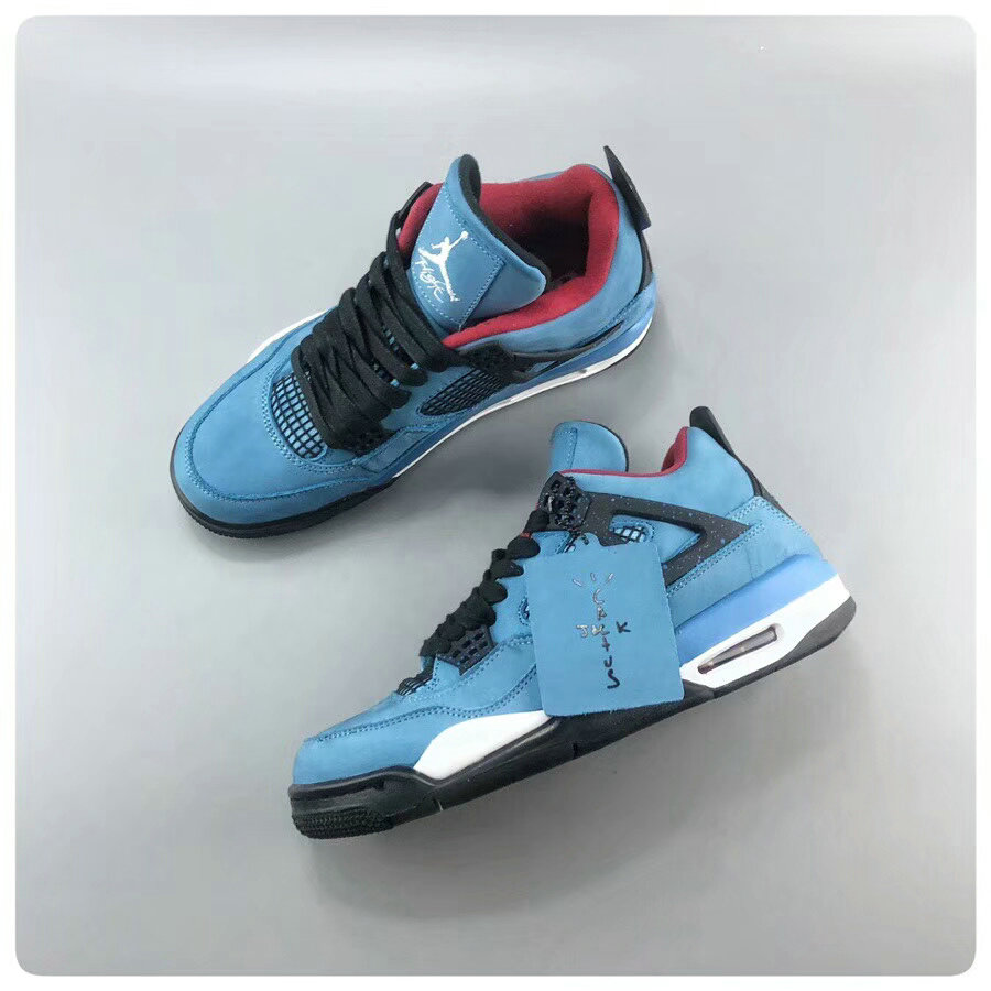 AJ4 Travis Scott x Air Jordan 4 Houston Oilers 308497-406 On  www.wholesaleoffwhite fad809af3