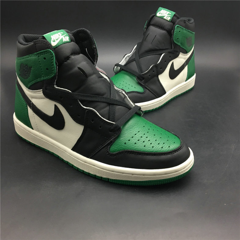 b24d55b654c5 Air Jordan 1 Pine Green 555088-302 Green White Black On  www.wholesaleoffwhite.