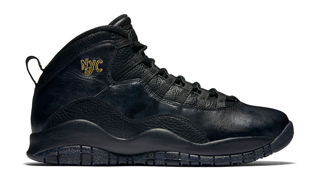Wholesale Cheap Air Jordan 10 NYC Black Black-Dark Grey-Metallic Gold - www.wholesaleflyknit.com