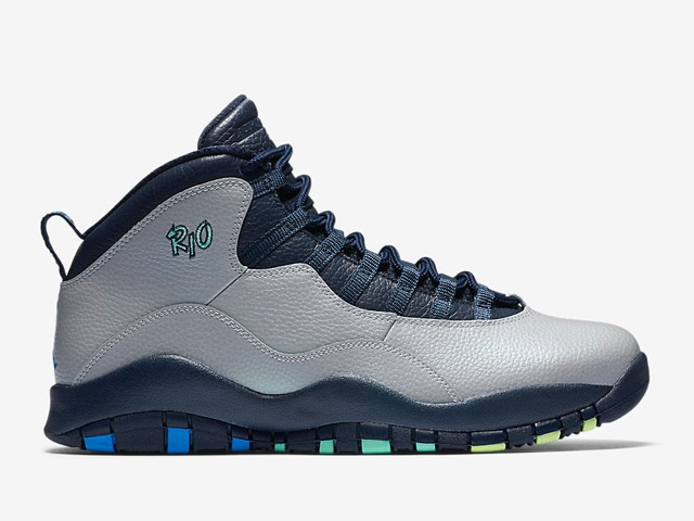 Wholesale Cheap Air Jordan 10 Rio Wolf Grey Photo Blue-Obsidian-Green Glow - www.wholesaleflyknit.com