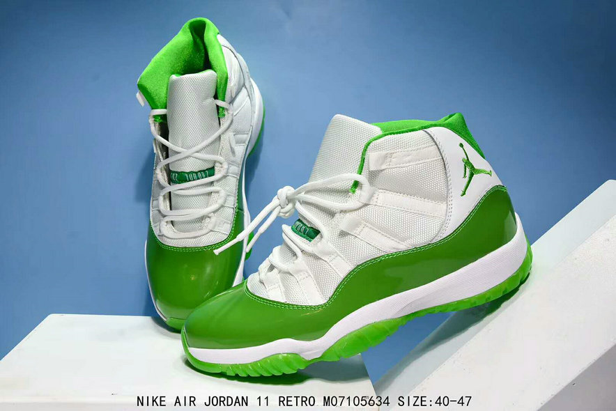 new york f6adb 1c835 Air Jordan 11 Retro Apple Green White On www ...