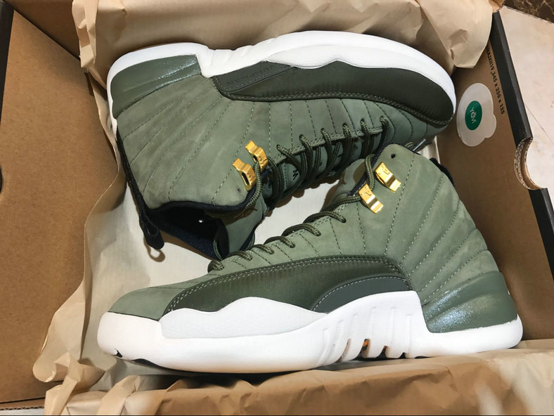 a853edfc092 Air Jordan 12 Retro Olive Canvas Metallic Gold On www.wholesaleoffwhite.com