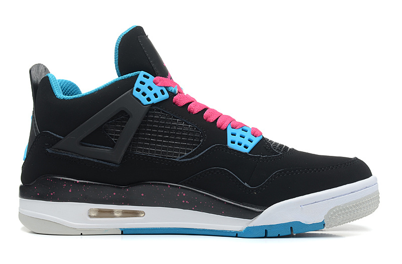 Wholesale Cheap Air Jordan 4 Retro South Beach Black Dynamic Blue-White-Vivid Pink For Sale - www.wholesaleflyknit.com