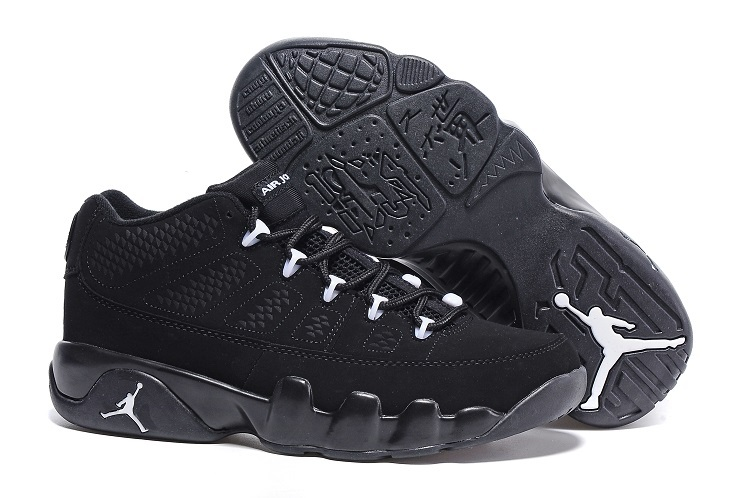 Wholesale Cheap Air Jordan 9 Retro Low Anthracite Black-White For Sale Online - www.wholesaleflyknit.com