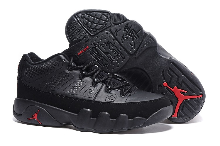 Wholesale Cheap Air Jordan 9 Retro Low Black Varsity Red For Sale - www.wholesaleflyknit.com