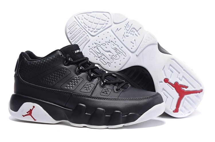Wholesale Cheap Air Jordan 9 Retro Low Chicago Black White-Gym Red Sale - www.wholesaleflyknit.com
