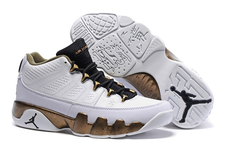 Wholesale Cheap Air Jordan 9 Retro Low Copper Statue White Black-Militia Green For Sale - www.wholesaleflyknit.com