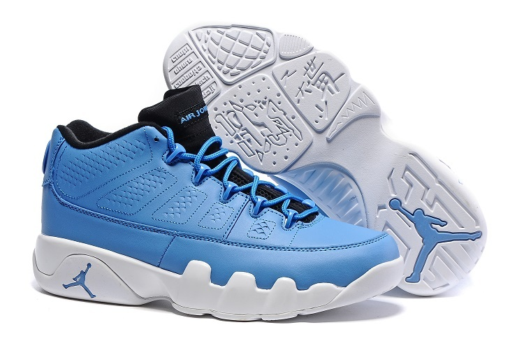 Wholesale Cheap Air Jordan 9 Retro Low Pantone University Blue Black-White - www.wholesaleflyknit.com