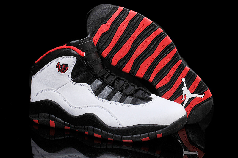 e3b239e0575dce Wholesale Cheap Air Jordans 10 Retro Chicago 45 PE White Varsity Red-Black  For Sale