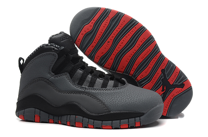 Wholesale Cheap Air Jordans 10 Retro Cool Grey Infrared-Black For Sale - www.wholesaleflyknit.com