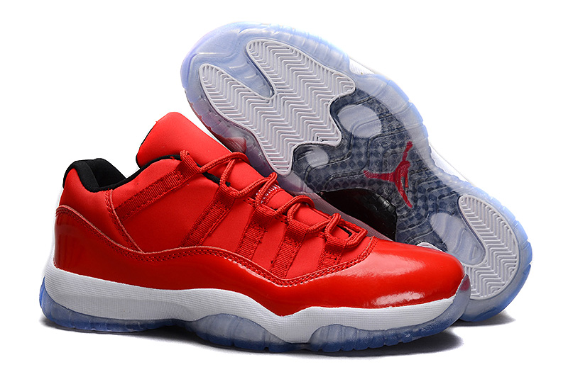 Wholesale Cheap Air Jordans 11 Retro Low Red PE Carmelo Anthony Red White For Sale - www.wholesaleflyknit.com