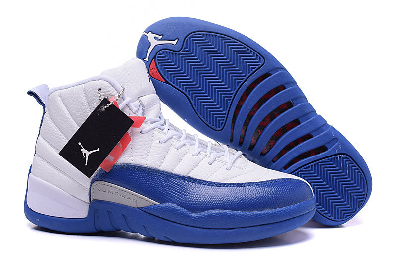 Wholesale Cheap Air Jordans 12 Retro French Blue White French Blue-Metallic Silver-Varsity Red - www.wholesaleflyknit.com