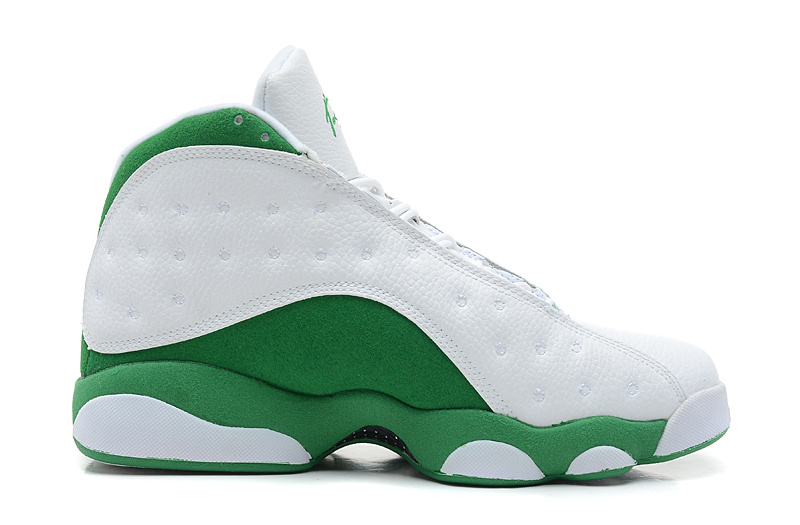 Wholesale Cheap Air Jordans 13 Retro Ray Allen Three-Point Record White Clover For Sale - www.wholesaleflyknit.com