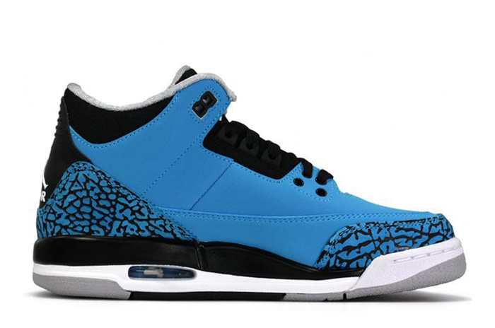 Wholesale Cheap Air Jordans 3 Retro Dark Powder Blue White-Black-Wolf Grey - www.wholesaleflyknit.com