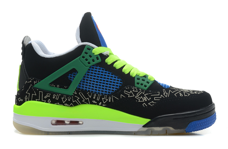 Wholesale Cheap Air Jordans 4 Retro Doernbecher Superman Black Old Royal-Electric Green-White - www.wholesaleflyknit.com