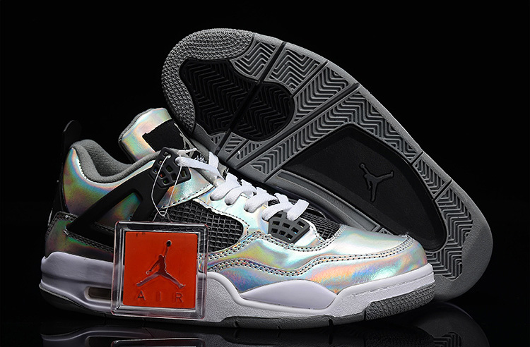 Wholesale Cheap Air Jordans 4 Retro Prism Metallic Silver Black-White For Sale - www.wholesaleflyknit.com