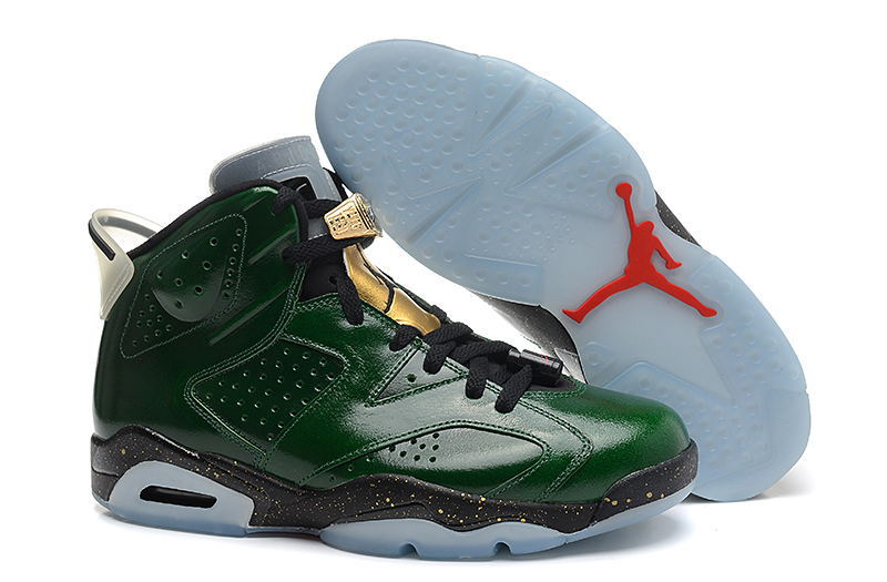 Wholesale Cheap Air Jordans 6 Retro Champagne Bottle Pro Green Metallic Gold-Chilling Red-Black - www.wholesaleflyknit.com