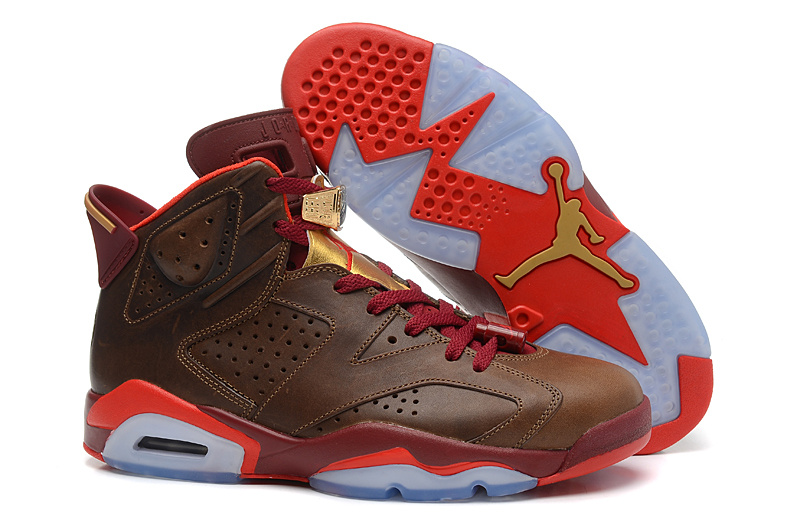 Wholesale Cheap Air Jordans 6 Retro Championship Cigar Raw Umber Chilling Red-Team Red-Metallic Gold - www.wholesaleflyknit.com