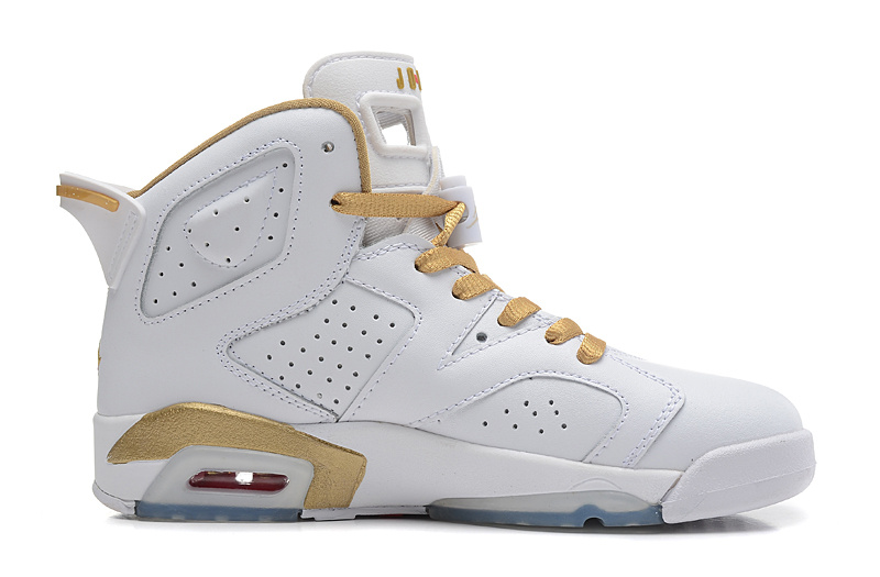 Wholesale Cheap Air Jordans 6 Retro Gold Medal White Gym Red-Metallic Gold-Sail For Sale - www.wholesaleflyknit.com