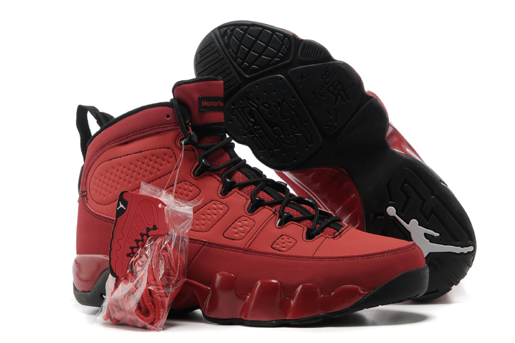 Wholesale Cheap Air Jordans 9 Motorboat Jones ¨C Challenge Red Black-White - www.wholesaleflyknit.com