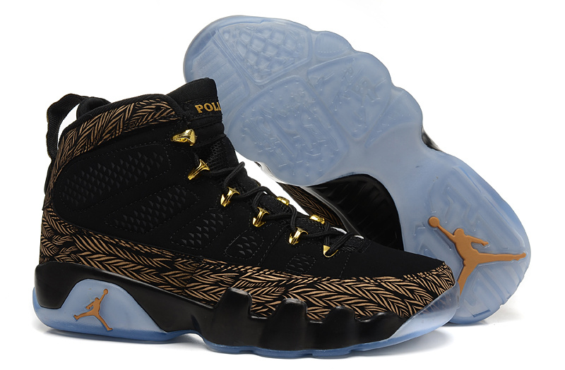 Wholesale Cheap Air Jordans 9 Retro DB Doernbecher Gold Black Custom For Sale - www.wholesaleflyknit.com