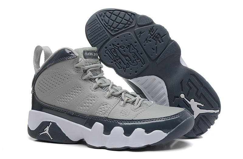 Wholesale Cheap Air Jordans 9 Retro Medium Grey Cool Grey-White For Sale - www.wholesaleflyknit.com