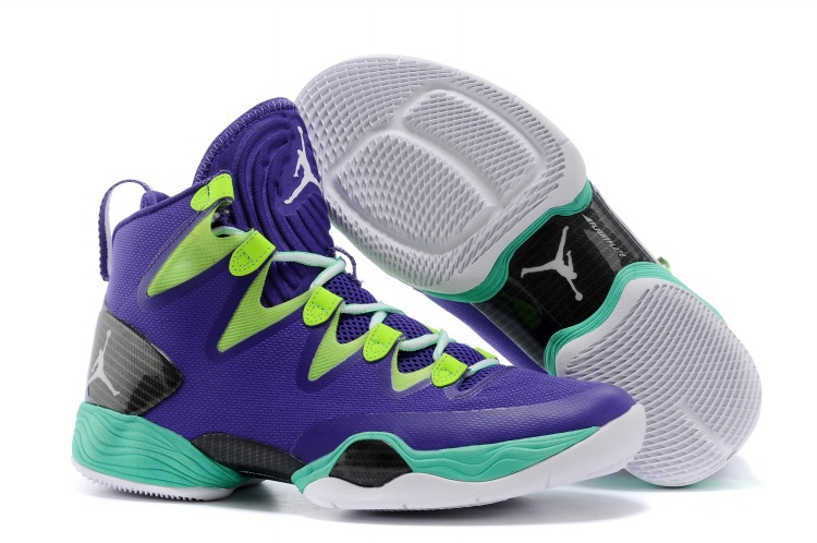 Wholesale Cheap Air Jordans XX8 SE Mardi Gras Russell Westbrook PE Court Purple Black-Flash Lime - www.wholesaleflyknit.com