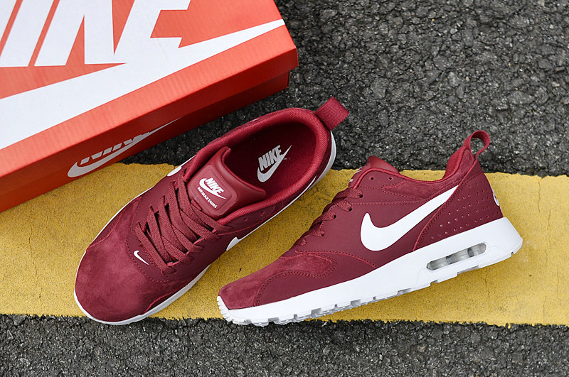 Wholesale Cheap Air Maxs Nike Air Max 87 Mens Burgundy White 2018 New Arrival - www.wholesaleflyknit.com