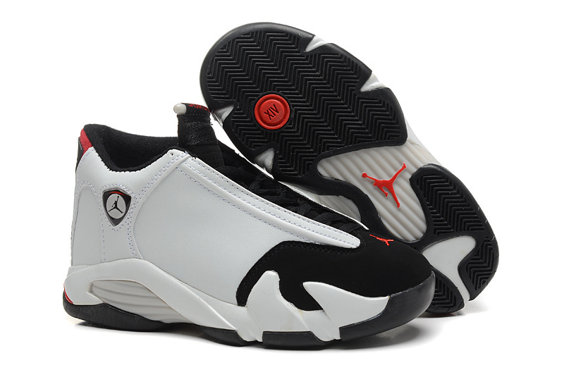 Wholesale Cheap Air Jordan 14 Black Toe White Black-Varsity Red-Metallic Silver - www.wholesaleflyknit.com