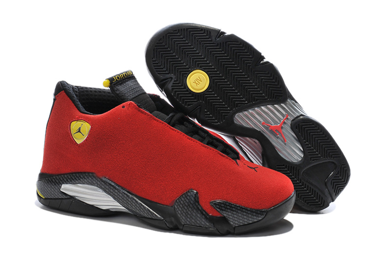 Wholesale Cheap Air Jordan 14 Ferrari Chilling Red Black Vibrant Yellow - www.wholesaleflyknit.com