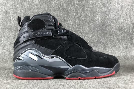 Wholesale Cheap Air Jordan 8 Cement Black Gym Red-Black-Wolf Grey For Sale - www.wholesaleflyknit.com