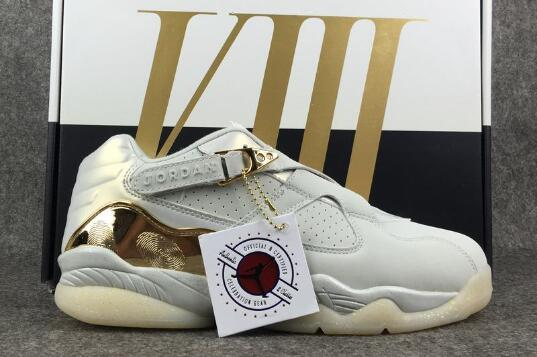 Wholesale Cheap Air Jordan 8 Low Champagne Light Bone Metallic Gold-White For Sale - www.wholesaleflyknit.com